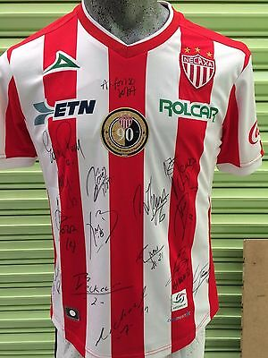 Jersey Necaxa Signed by the whole Team Edson Puch Marcelo Barovero