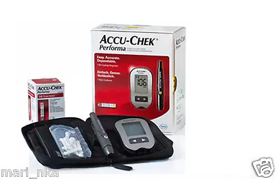 Accu Chek Performa Blood Glucose Meter  +10 free tests +10 lancets. U.S.A.
