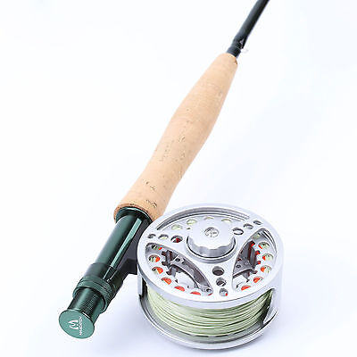 5WT Fly Rods&Reel Combo 9FT Fly Rod & Large Arbor Aluminum Reel & Line