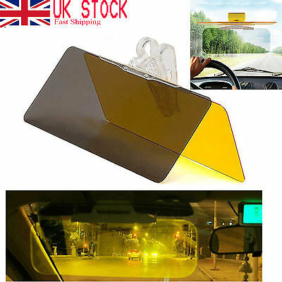 Day Night Flip Auto Sun Visor Anti-Glare Shield UV Block HD Vision Adjustable YY