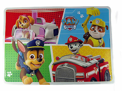 Paw Patrol Dog Dinner Table Place Mat - 4 Character Design