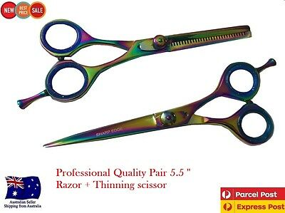 Professional Barber Hairdressing Scissors Thinning Hair Cutting Set Multi, NEW