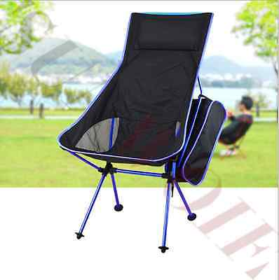 Portable Chair Folding Seat + Backpack Ultra Light Camping Hiking Furniture AU