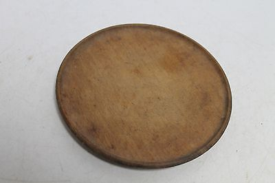 Antique Primitive Old Wooden Plate