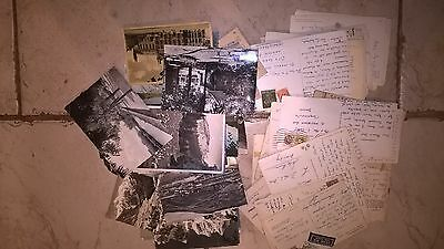 Job lot 54 vintage collectable foreign postcards All stamped/franked 1930's-60's