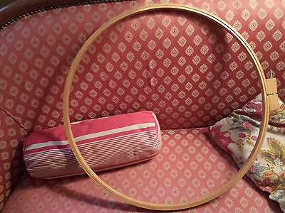 Grand TAMBOUR a MATELASSER Cercle A Broder TAPISSERIE Bois EMBROIDERY QUILT HOOP