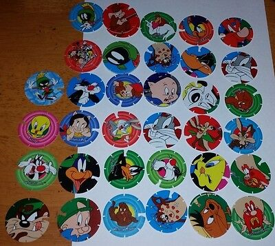 Lot Of 34 Looney Toons Tazos In Great Condition