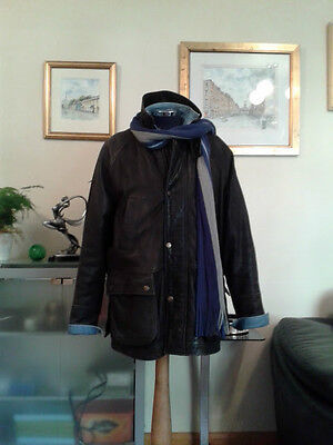 Guinness Pure Leather 3/4 Length 'Car Coat' L/XL ~ To fit Chest 42/44