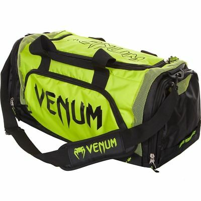 VENUM YELLOW TRAINER LITE SPORT HOLDALL BAG BLACK - MMA Bjj
