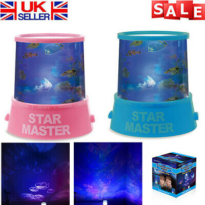 Kids Children LED Underwater World Ocean Projection Lamp Projector Night Light