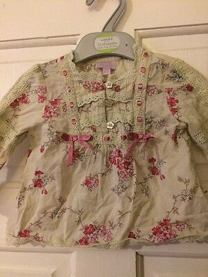 Beautiful Baby Girl Blouse By Monsoon Age 3-6 Months