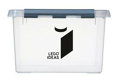 2x large LEGO IDEAS Logo Vinyl Stickers Decals storage toy box container boxes