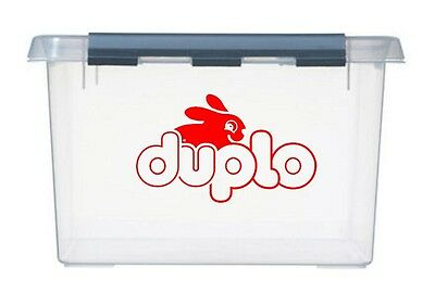 2x large DUPLO bunny Logo Vinyl Stickers Decals for storage toy box container