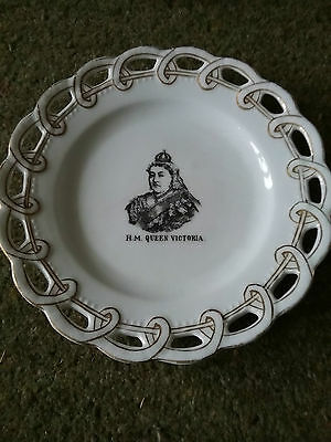 HM Queen Victoria plate. Best guess is the Diamond Jubilee?