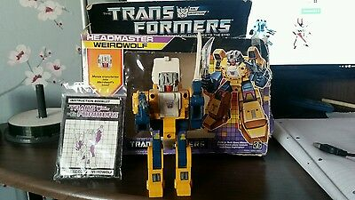 transformers G1 Weirdwolf boxed and complete vintage