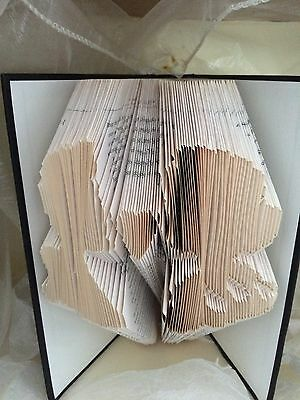 Book folding art pattern Snow White &the Princes heads folded book (pattern only