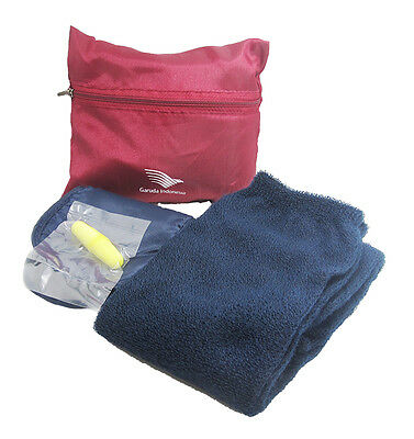 Garuda Indonesia Airlines Travel Amenity Kit Bag with content