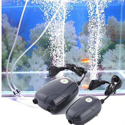 NEW Super Silent High Energy Efficient Aquarium Oxygen Fish Air Pump Tank 3W/5W