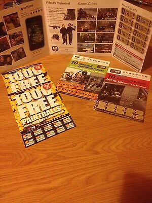 Genuine huge Paintball bundle tickets, Adult and Kids over 2000 free balls IPG!