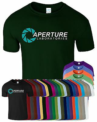 APERTURE LABORATORIES Mens Inspired T Shirt New Portal Logo Novelty Gifted Tee