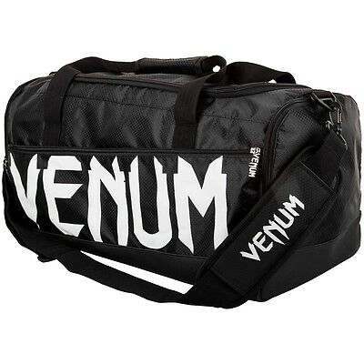 Venum Black/white Mma Sparring Sports Holdall Bag