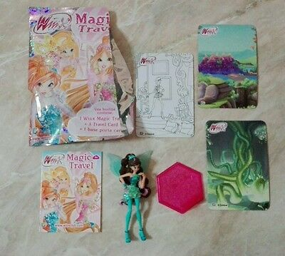 Mini mondi WINX Club Aisha Tynix Magic Travel puppe poupee doll bustine figurine