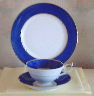 Aynsley Plate,cup And Saucer In The Sherton Design
