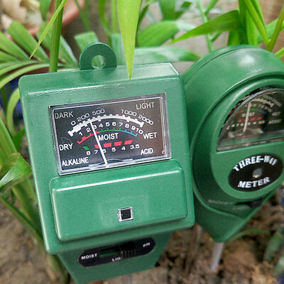 3 in 1 PH Tester Soil Water Moisture Light Test Meter for Garden Plant Flower#DB