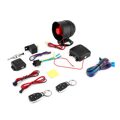 1 Car Vehicle Burglar Protection System Alarm Security+2 Remote Control#DB