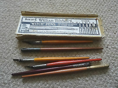 Box William Mitchell Which Pens 3 Original Calligraphy Pens & 3 Odds + Box