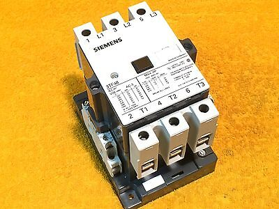 **PERFECT** SIEMENS 3TF4822-0DB4 3-POLE 100 AMP 600 VOLT CONTACTOR w/6 AUXILIARY
