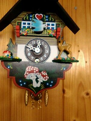 Small Novelty Working Black Forest Style Cuckoo Clock WITH KEY WINDER