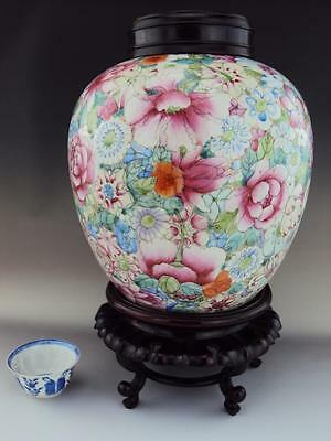 Qianlong Marked, STUNNING Chinese Porcelain Oriental Antiques Famille Rose Vase