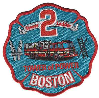Boston Fire Dept. Tower Ladder 2 Tower Of Power   Fire Patch