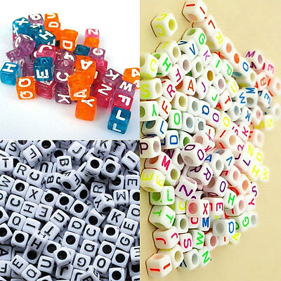 100Pcs/lot DIY Fashion Multi Color Acrylic Made Letter Beads Gifts For Children