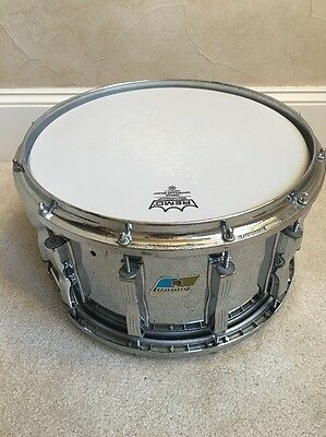 Ludwig Rare Die Cast Coliseum 8 x 14 Snare Drum 12 Lug 70s 80s Blue Olive Badge