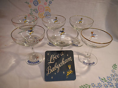Selection of 1960/70's Babycham & Snowball Glasses
