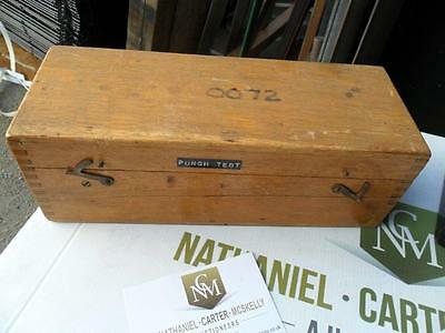 Punch Test in a Wooden box casing
