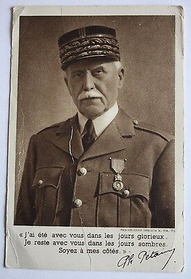 Old French Postcard of Marshal Petain (Marechal Philippe Petain)