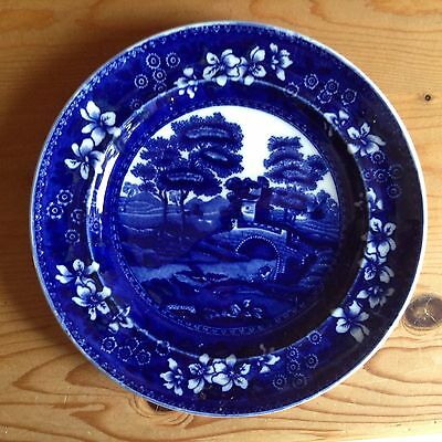 Small Copeland Plate In Rich Deep Blue Colour.