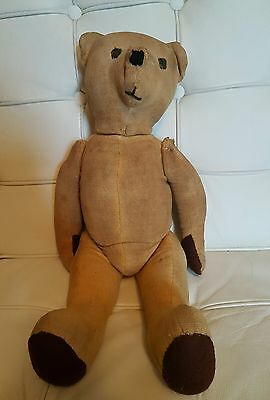 Antique Straw Filled Teddy Bear, Pointy Nose....l@@k!!