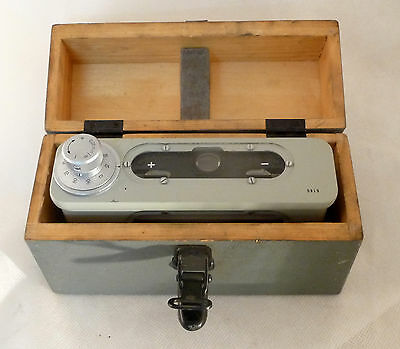 CARL ZEISS JENA Coincidence precision Spirit Level + BOX, Calibrated Libelle,