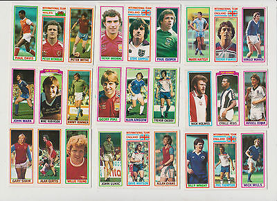 27  Footballers..( 3  Per  Card ) )...9  Cards...1981...topps...blue  Back