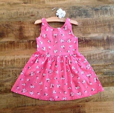 Boutique Style Caroline Pink Flower Bunches Dress Size 3T NWT