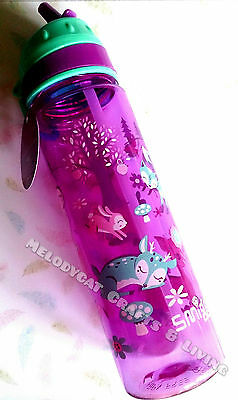 """NEW! SMIGGLE Kids Girl's Straight Drink Bottle """"Party"""" - Magical Forest"""