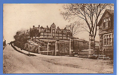 Old Vintage 1935 Postcard High School Monmouth Monmouthshire Wales