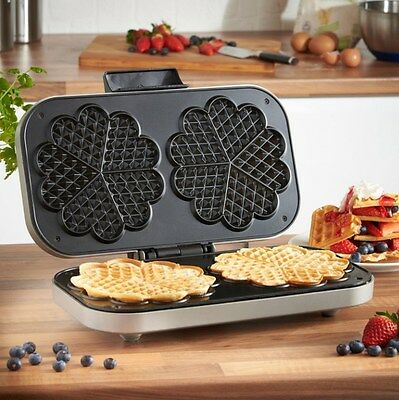 Double Home Belgian Waffle Maker Iron Machine Stainless Steel Design Waffelmaker