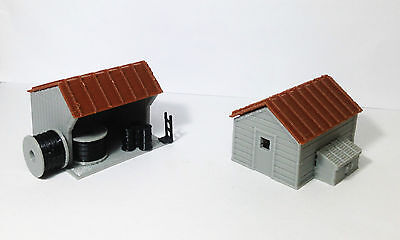 Outland Models Train Railway Layout Trackside House Equipment Shed Set HO Scale
