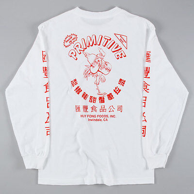 SP Primitive x Huy Fong Foods Long Sleeve T-Shirt White skate