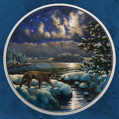Kanada - Animals in the Moonlight - Cougar - 30$ 2017 PP Silber - Puma